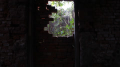 Ghost point of view old building Stock Footage