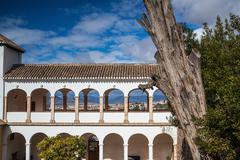 Pavillon of Generalife in Alhambra complex - stock photo