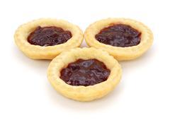 Three delicious jam tarts Stock Photos