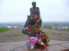 New monument to famous  film actor leonid bykov. kiev, ukraine Stock Photos