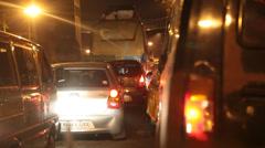 Night traffic in Kolkata Stock Footage