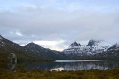 Cradle Mountain in winter Stock Photos