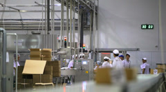 People working at the factory Stock Footage