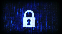 Cracked security code abstract image. Password protection conceptual footage. - stock footage