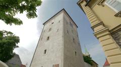 Zagreb's landmark Lotrscak Tower Stock Footage