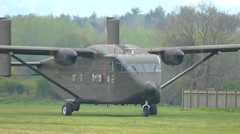 Military Short Skyvan ready for takeoff Stock Footage