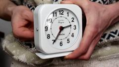 Setting Clock/Alarm Stock Footage
