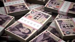 Billion Yen Background Stock Footage
