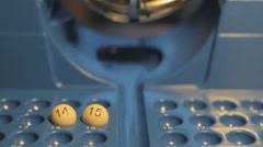 Bingo balls Stock Footage