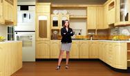 Cookery Show TV Studio Set 002 - Virtual Green Screen Background PSD PSD Template