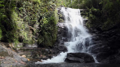 Deep forest waterfall in Matutu, Minas Gerais, Brazil Stock Footage