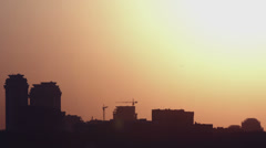 Beautiful sunset in the city - stock footage