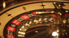 Close up shot of a casino roulette in motion - stock footage