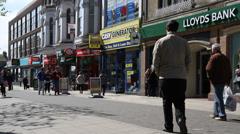 High Street, Lowestoft, Suffolk, England, United Kingdom Stock Footage