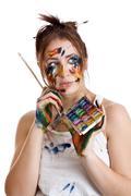 artistic endeavour - stock photo