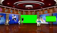 Sports 010 TV Studio Set - Virtual Green Screen Background PSD PSD Template