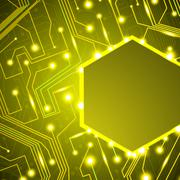 circuit board background, technology illustration - stock illustration
