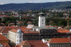 Zagreb- St. Mark's church - stock photo