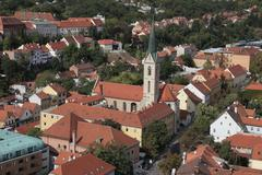 Zagreb-St. Francis of Assisi church - stock photo