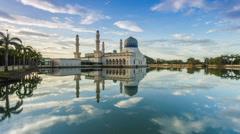 Kota Kinabalu City Mosque, Borneo, Sabah Stock Footage