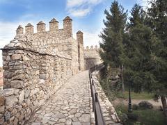 View of monumental wall of Ávila Stock Photos