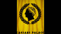 caeser hotel golden banner - stock footage
