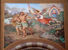 Aatami ja Eeva, karkotus paratiisista Kuvituskuvat