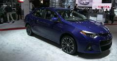 Toyota exhibit at the New York International Auto Show Stock Footage