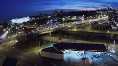 Cars refuel in filling station on Gannushkina quay Stock Footage