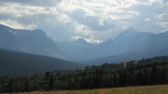 Glacier National Park Mountains2 Stock Footage
