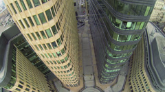Footpath between two edifices of office center White Square - stock footage