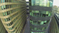 Top levels of business complex White Square. Stock Footage