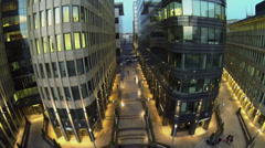 Modern business centre White Square with illumination Stock Footage