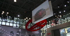 New Toyota Camry at the New York International Auto Show Stock Footage