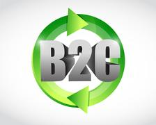 Liiketoiminnan asiakkaille cycle kuvitus suunnittelu Piirros