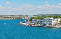 Embankment of sevastopol city Stock Photos