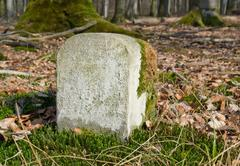 boundary marker - stock photo