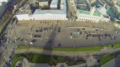 Cityscape with traffic on near Leningradsky railway station Stock Footage