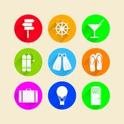 Flat icons for leisure Stock Illustration