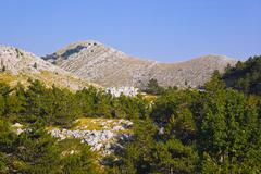 Mountains view at Biokovo, Croatia Stock Photos