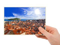 Dubrovnik (Croatia) photography in hand Stock Photos
