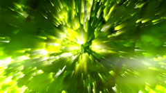 Radiation nature chestnut abstract green light Stock Footage