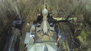 Stock Video Footage of Cross on cupola of Temple of Tikhon Zadonsky on Shiryevo field