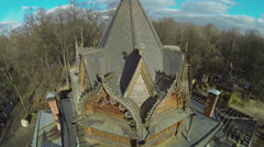 Edifice of Temple of Tikhon Zadonsky on Shiryevo field - stock footage