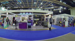 15th International Exhibition ExpoClean in sport complex Stock Footage