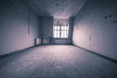 Empty dirty grunge interior with vintage color filter Stock Photos
