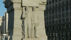 Titanic memorial, st nicholas place, liverpool pier head, england Stock Footage