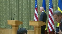 Speech by Vice President of the USA Joseph Biden Stock Footage
