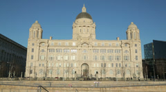 port authority building at liverpool pier head - stock footage