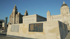 Repatriation memorial, pierhead, liverpool, england Stock Footage